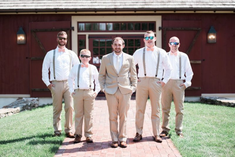 groomsmen in sunglasses