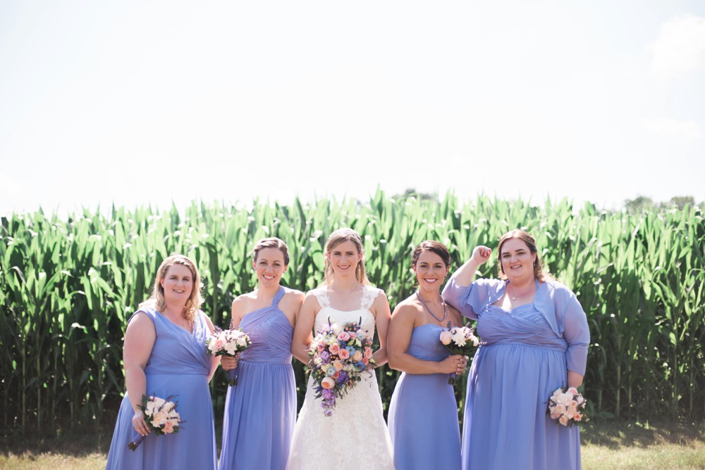 cornfield wedding