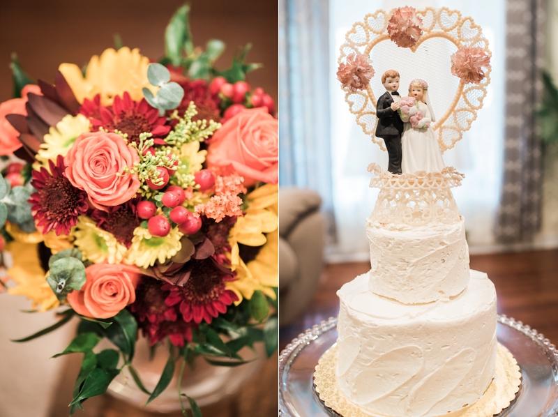 Antique wedding cake topper
