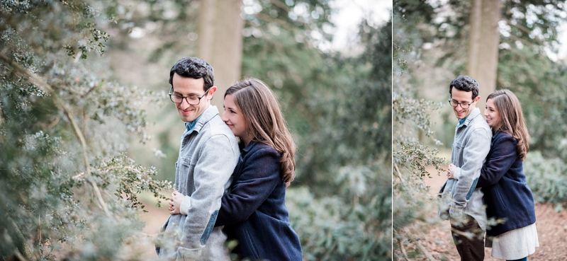 Winter Longwood Gardens Engagement