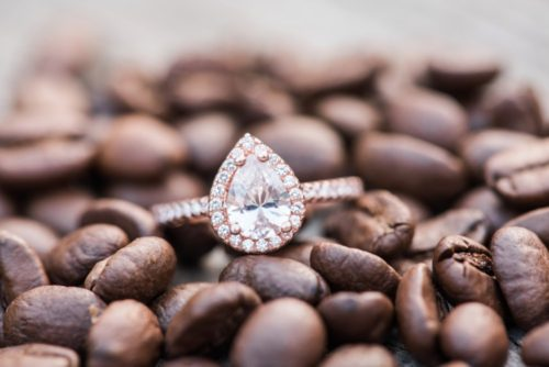 Coffee Engagement Ring