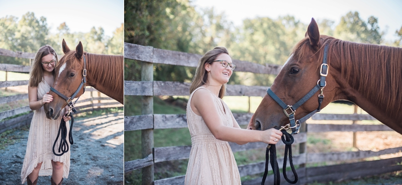 horse senior photos