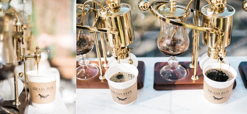 wedding coffee cart, Brass Fox Coffee