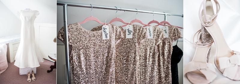 Gold Sequin Bridesmaids Dresses